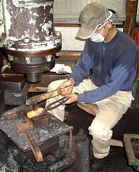 Meister Hiroki bei der Arbeit