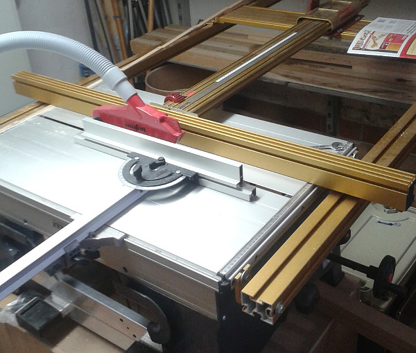 Incra Table Saw Fence Mounted On A Mafell Erika