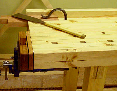 back vise on the left