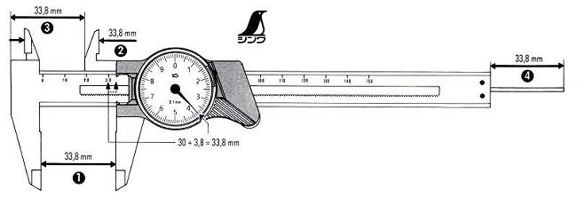 SHINWA Fiberglass Dial Pocket Caliper
