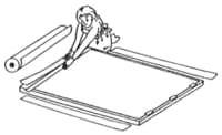 Rollen Sie das Shoji-Papier aus