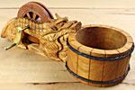 Traditionelle Meß- und Markierwerkzeuge: Bambuslineale, Sumitsubo und Sumisashi