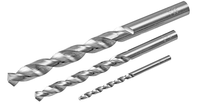Twist drills for aluminium, zinc, copper, PVC, polystyrene