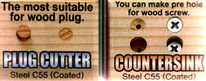 Plug Cutter and Countersink Set