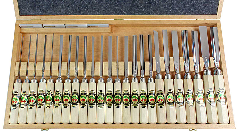 TWO CHERRIES Set of 24 Gouges