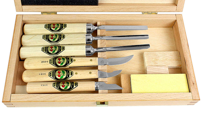 TWO CHERRIES Set of 7 Carving Tools
