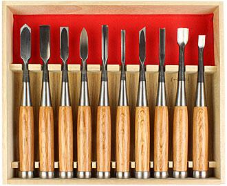 KAWASEI 10 Piece Carving Tool Set Akatsuki