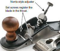Norris-style combined feed and lateral adjustment