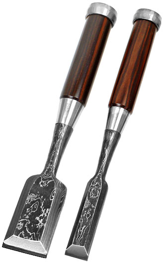 DAITEI Japanese Chisels made of Damascus Steel