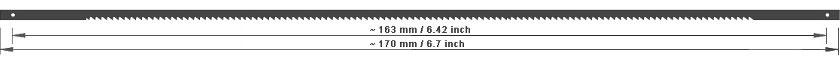Dekupiersägeblätter 170 mm für Holz