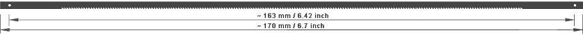 Dekupiersägeblätter 170 mm für Metall