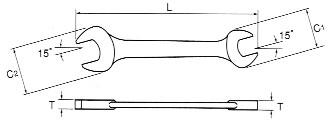Skizze, Dünne Schraubenschlüssel von ASAHI