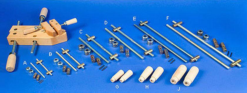 Bausatz für Winkelvariable Holzzwinge