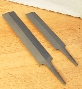 Feather Edge Saw Files, single-faced