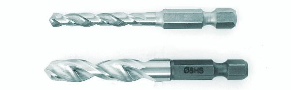 Punte elicoidali per metalli con codolo esagonale di FISCH