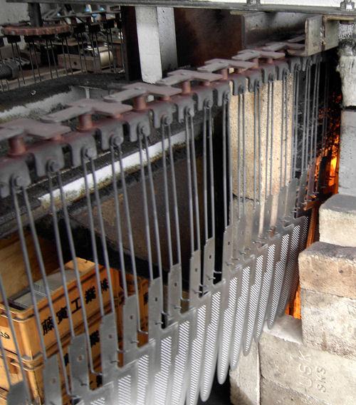 Industrial hardening of Blade Blanks