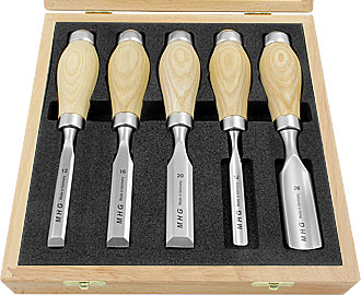 5 pc Mixed Set MHG Butt Chisel Gouges and Short Chisels