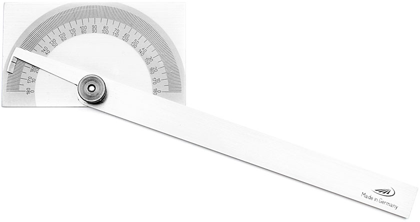 PREISSER Protractor with rectangular base