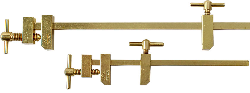 Hatagane - Japanese Bar Clamps in Brass