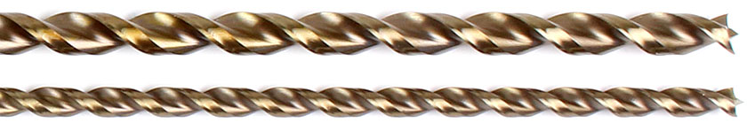 HSS-G series 1599 brad point drill bits, extra long