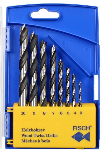8 Piece Set Brad Point Twist Drills