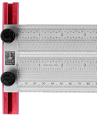 T-Square Marker Rule mm and inches combined