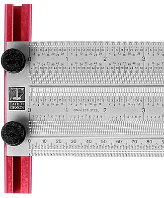 T-Anreiß- und Markierungslineal mm und inch