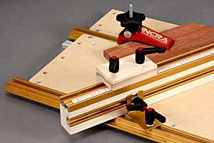 INCRA Build-It Set of 4 Ratchet Lever Knobs - example of use