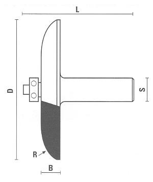 Abplattfräser mit Anlaufring