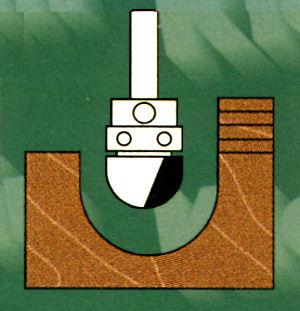 Hohlkehlfräser mit Anlaufring schaftseitig (oben)