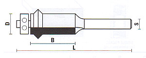 Flush Trim V Groove Bit with Ball Bearing