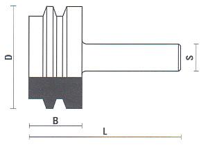 Fresa per giunzioni parallele
