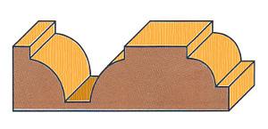 Eintauch-Viertelstabfräser, Holzprofil
