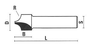Eintauch-Viertelstabfräser mit extra schmaler Grundschneide