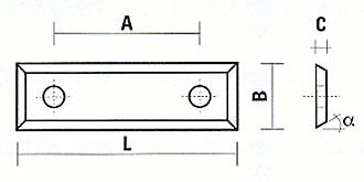 Wendeplatten-Falzfräser Skizze
