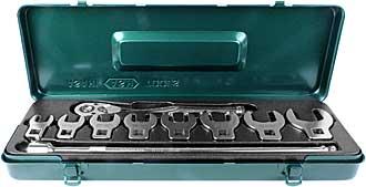 Asahi Crowfoot 10-piece 1/2 inch spanner set