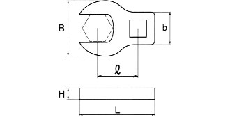 Asahi Crowfoot 9-piece 1/4 inch spanner set