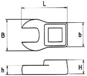 Asahi Crowfoot 13-piece 3/8 inch spanner set