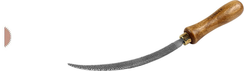 Liogier handlemaker's rasp curved