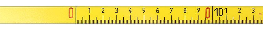 Adhesive-backed Steel Measuring Tape, to read from left to right, mm-scale