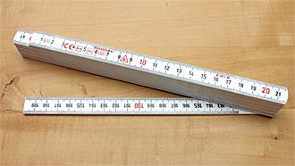 Plastic Folding Rule length 2 m