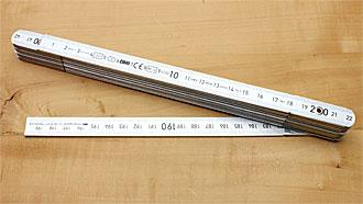 BMI Aluminium Folding rule 2 m
