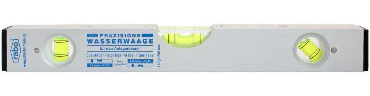 rabo Präzisionswasserwaage für den Anlagenbau Länge 250mm