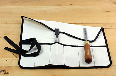 Canvas Tool Roll with Cord