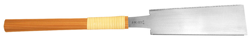 Traditional Ryoba with cedar wood handle