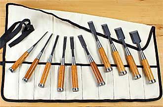 Set of 10 HIKOZA Chisels