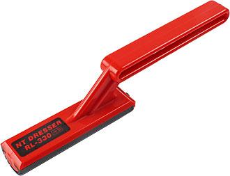 Lastra abrasiva arrotondata rettangolare con sistema NT-Dresser 85 x 24 mm, raggio 12.5 mm
