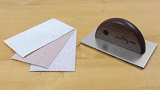 Lastra abrasiva 100 x 60 mm con velcro