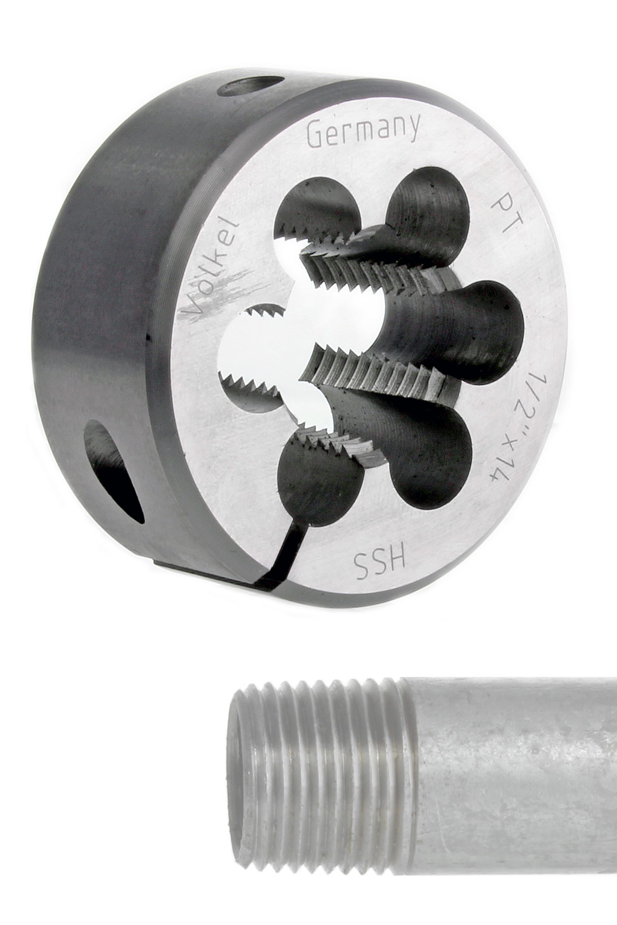 M20x2.5mm Chrome-Silicon Alloy Steel Round Die Dies Tapping Finish Tools