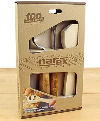 3-part woodcarving set with spoon blank